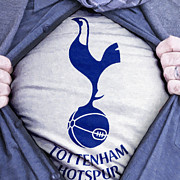 Shirt Framed Prints - Businessman Tottenham Hotspur Fan Framed Print by Antony McAulay