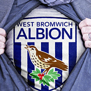 Footie Prints - Businessman West Bromwich Albion Fan Print by Antony McAulay