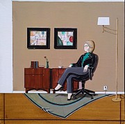 John Lyes - Businesswoman Sitting in...