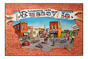 4th July Painting Metal Prints - Bussey Mural Metal Print by Todd Spaur