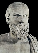 Statue Portrait Metal Prints - Bust Of Aeschylus. 5th C. Bc. Greek Metal Print by Everett