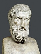 Greek Sculpture Prints - Bust Of Epicurus. 1st Half 4th Bc Print by Everett
