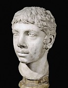 Statue Portrait Metal Prints - Bust Of Heliogabalus. 3rd C. Roman Art Metal Print by Everett