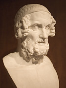 Greek Sculpture Prints - Bust of Homer Print by Mark Greenberg