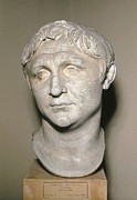 Statue Portrait Metal Prints - Bust Of Pompey. 1st C. Copy Metal Print by Everett
