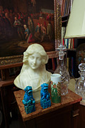 Hand Photos - Bust painting knick knacks in antique shop by Amy Cicconi