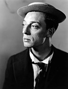 Fame Posters - Buster Keaton Portrait Poster by Sanely Great