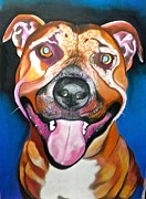 Brown Dogs Pastels - Buster by Susan Robinson