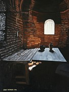 Light And Dark   Paintings - But soft What light through yonder window breaks by Caren Bestbier