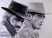 Paul Drawings - Butch Cassidy and the Sundance Kid I by Joel Smith