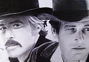 Paul Drawings - Butch Cassidy and the Sundance Kid II by Joel Smith