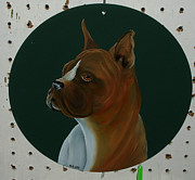 Boxer Painting Prints - Butch the Boxer Dog Print by Darlene Prowell