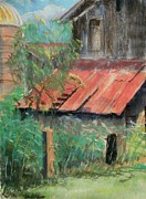 Painted Pastels - Butler Bridge Barn by Tim  Swagerle