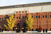 Framed Poster Art Framed Prints - Butler Bulldogs Hinkle Fieldhouse in the Fall Framed Print by Replay Photos