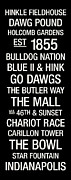 Indianapolis Posters - Butler College Town Wall Art Poster by Replay Photos