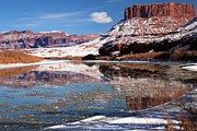 Reflections In River Framed Prints - Butte In The Colorado Framed Print by Adam Jewell