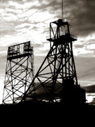 Butte Montana Headframe Print by David Bearden