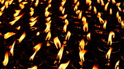 Butter Lamps In Bodhgaya Print by Greg Holden