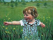 Laughing Pastels Prints - Buttercups Print by Marion Derrett