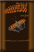 Humorous Greeting Cards Framed Prints - Butterflies are Free Framed Print by Larry Bishop
