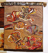 Hand Embroidery Tapestries - Textiles - Butterflies by Hermina Csata