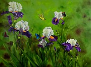 Carol Avants - Butterflies in the Iris