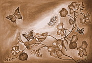 Attractive Pyrography - Butterflies of Freedom by Nagabushan A