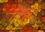 Abstract Stars Metal Prints - Butterfly Abstract 2 Metal Print by David Dehner
