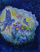 Pictures Of Fairies Paintings - Butterfly Belle by Leslie Allen