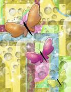 Butterfly Dreams Print by Karen Sheltrown