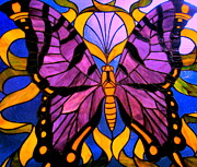 Stain Glass  Work - Butterfly Effects 2 by Allen n Lehman
