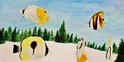 Butterfly Fish Print by Savanna Paine