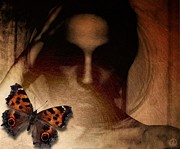 Blind Eyes Posters - Butterfly give me your eyes Poster by Gun Legler