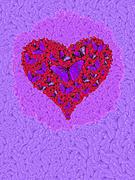 Butterfly Heart Print by Alixandra Mullins