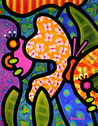 Abstract Art Painting Originals - Butterfly Jungle by Steven Scott