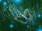 Sparkle Mixed Media Posters - Butterfly Magic by jrr Poster by First Star Art