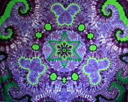 Star Tapestries - Textiles Prints - Butterfly Mandala Print by Carl McClellan