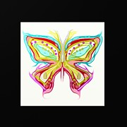 Art Product Painting Prints - Butterfly motif Print by Len YewHeng