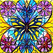 Healing Image Paintings - Butterfly by Teal Eye  Print Store