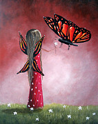 Faery Artists Painting Prints - Butterfly Whisperer by Shawna Erback Print by Shawna Erback