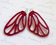 Laser Cut Jewelry - Butterfly Wings Earrings by Rony Bank