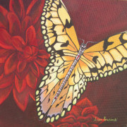 Lisa Prusinski - Butterfly Wrapped in Red