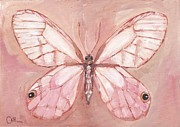 Cecely Bloom - Butterflying Pink Glass...