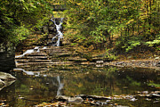 Buttermilk Falls Art - Buttermilk Creek Waterfall by Christina Rollo
