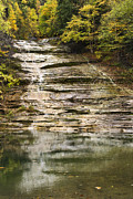 Central Ny Prints - Buttermilk Falls Print by Christina Rollo