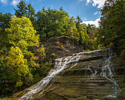 Buttermilk Falls State Park Framed Prints - Buttermilk Falls Framed Print by John Naegely