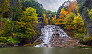 Buttermilk Falls Framed Prints - Buttermilk Falls Framed Print by Mark Papke