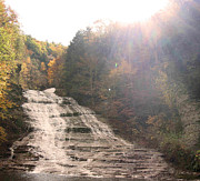 Buttermilk Falls Prints - Buttermilk Falls State Park Print by Silvana Marmango