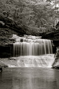 Buttermilk Falls Prints - Buttermilk in Black and White Print by Judd Connor
