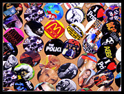 Billy Idol Art - Button Crazy by Kip Krause